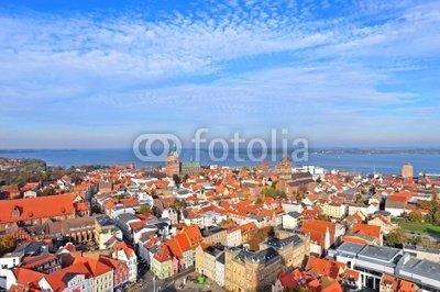 Holz-Bild 30 x 20 cm: 'Stralsund, Altstadt', Bild auf Holz