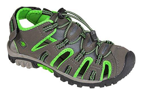 GIBRA® Trekkingsandalen, sehr bequem, dunkelgrau/neongrün, Gr. 36