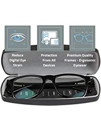 Intellilens® Premium Blue Cut Zero Power Wanderer Spectacles with Anti-glare for Eye Protection from UV by Computer Tablet Laptop Mobile (Unisex)