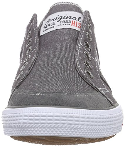 HIS 141-007, Sneakers basses homme Gris - Grau (dk grey)