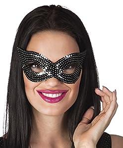Boland 500247 - Máscara de ojos con purpurina, color negro