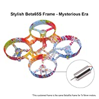 Beta65S 65mm Whoop Frame Kit Grafitti Freestyle Frame Canopy 31mm 3-blade Props 4-blade Props for 7x16mm Motors like Eachine E011 Tiny Whoop Drone