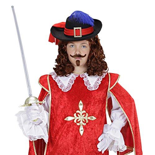 NET TOYS Musketier Hut Musketierhut Kinder Filzhut Musketiere Garde Federhut Piratenhut Jungen Mittelalter Kopfbedeckung Karneval Kostüm Accessoires