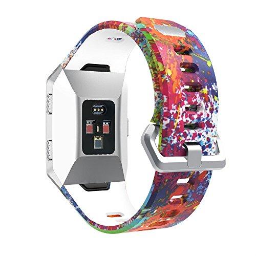 SYY ❤️ für Fitbit Ionic ❤️ Universal Armbänder Strap Band, Sport-Silikon Antikollision Kratzfest Wasserdicht Uhrenband für Fitbit Ionic (Colour 5)