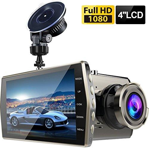 Dashcam,TinMiu Autokamera 4 Zoll LCD Full HD 1080P 170° Weitwinkelobjektiv mit G-Sensor,Nachtsicht,WDR, Loop-Aufnahme, Bewegungserkennung,Parkmonitor,SD-Karte Nicht enthalten