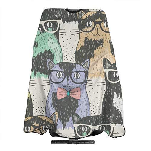 Kostüm Mann Nerdy - Nerdy Cats Professioneller Haarschneideumhang Frisierumhang Friseurumhang Friseurschürze