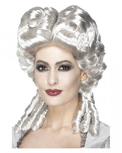 Horror-Shop Herzogin Perücke Rokoko für Damen Weiß-Blond | One Size