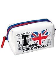 Pochette Trousse Rectangulaire London I LOVE ROCK N'ROLL