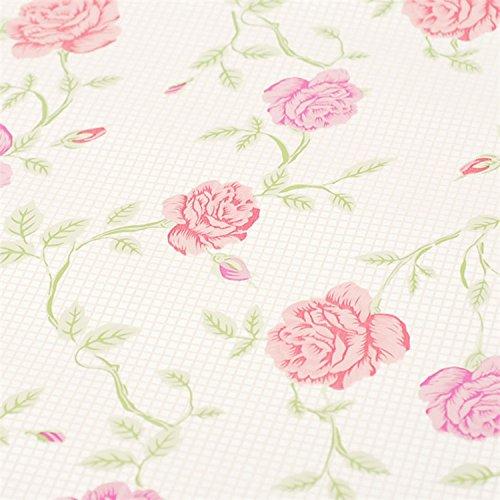 Pink Floral Schubladen Regal rutschsicher Selbstklebendes Vinyl Deko Kontakt Papier für Regalen Schublade Möbel Wand Dekoration 45x 199,9cm (Papier-möbel)