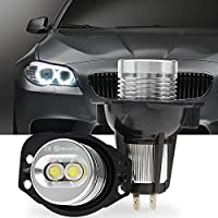 2Pcs Angel Eyes Bulbs,Biqing 6W Angel Eyes LED Halo Ring Marker Light Led Day Time Lighting for E90 E91 2005-2008 3 Series 6000K
