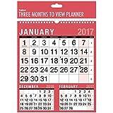 Calendario 2016 de pared, formato de 3 meses