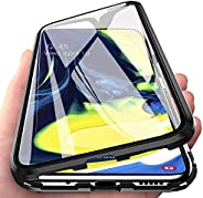 Ikwcase Galaxy A80 Case, 360° Full Body Transparent Tempered Glass with Magnetic Adsorption Metal Bumper Case Cover for Sams