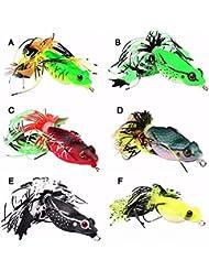 Leurre de surface Grenouille luxe pêche carnassier Modele E ( noir )