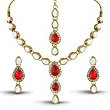 Rich Lady Excellent Kundan And Stone Gol...