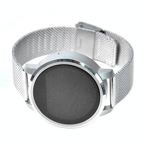 Da Polso Telefono / Orologio Intelligente Smartwatch - Fitness Tracker Heart Rate Monitor Smartwatch Fitness Lunga Durata Impermeabile E Resistente Alla Polvere & Controllo Gesti - [ Argento ] N360