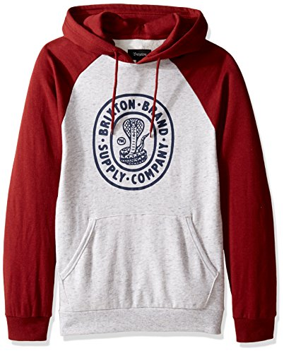Brixton Felpa Pace Hooded, Uomo, PACE Hooded heather stone