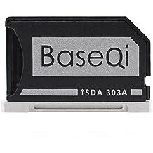 "BaseQi Aluminio Micro SD Adaptador adaptador de aluminio con la plata borde para MacBook Pro Retina 13"" (MBPR)"