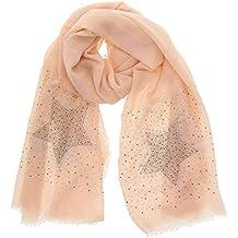FASHIONGEN - Echarpe femme douce imitation coton, strass et étoile, ... e4275154180