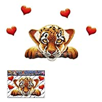 TIGER CUB Small Funny Big Cat ANIMAL Love Heart Decal Sticker For Car Boats Trucks Caravans - ST00014_1 - JAS Stickers