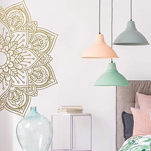 Typpk Mandala vinyl kunst wandaufkleber haus dekoration meditation yoga aufkleber kreative aufkleber schlafzimmer dekoration wandaufkleber braun 57x113 cm