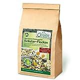 Original-Leckerlies: Kräuter-Flocken-Mix, 1 kg magenschonende Hundeflocken mit Gemüse und mit Melisse, Fenchel und Kamille, Hundefutter- Naturprodukt für Hunde, barfen