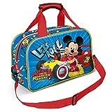 Karactermania Mickey Mouse Racers-Sports Bag Borsa sportiva per bambini, 38 cm, Blu (Blue)