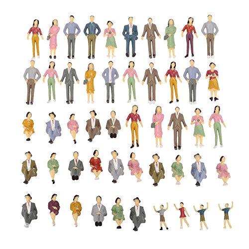 Goolsky 50 Stück 1:30 Rahmen Gemalte Modell Menschen Leute Zug Passagiere