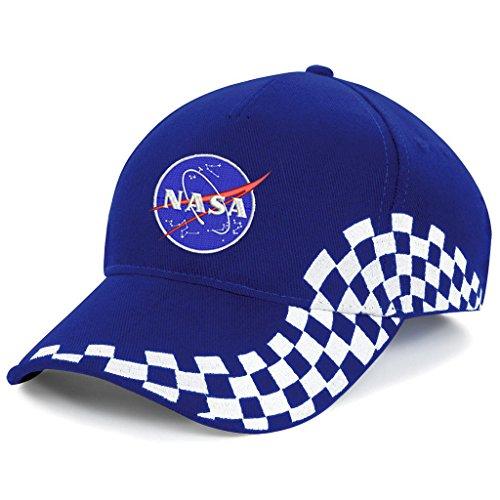 NASA Astronaut Apollo Bestickte Baseball Mütze Grand Prix Cap-1040 (Blau)