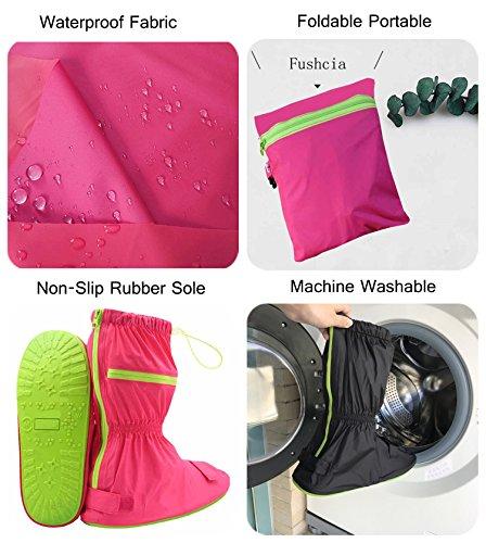 Knixmax Herren Regenüberschuhe Wasserdicht Schuhe Rutschfester Radsportschuhe Wiederverwendbar geltenden für Reise,Garten, für Angeln,Camping,optimal vor Nässe,Regen,Schnee und Matsch geschützt Braun