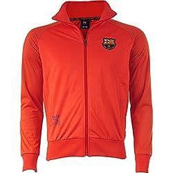 Barca–Collection chaqueta oficial FC Barcelona–para hombre, talla DE adulto, Hombre, rojo, XXL