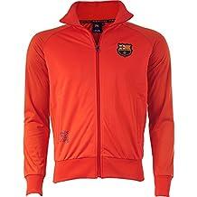 Barca–Collection chaqueta oficial FC Barcelona–para hombre, talla DE adulto, Hombre, rojo, XL