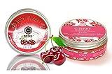 Saules Fabrika Kosmetik Geschenk-Set Körper-Peeling + Creme, (Body-Scrub + BodyYoghurt), mit reichen Ölen, 100% Vegan, Bio, Handmade, mit Zucker (Kirsche)