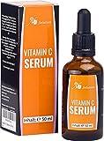 Vitamin C Serum + Hyaluronsäure für Ihr Gesicht - Gesichtsserum - 50 ml - das empfohlene Anti Ageing Serum für erhöhte Kollagenproduktion und weniger Fältchen und Altersflecken - Vitamin C Serum gegen Akne und Narben - für Männer und Frauen