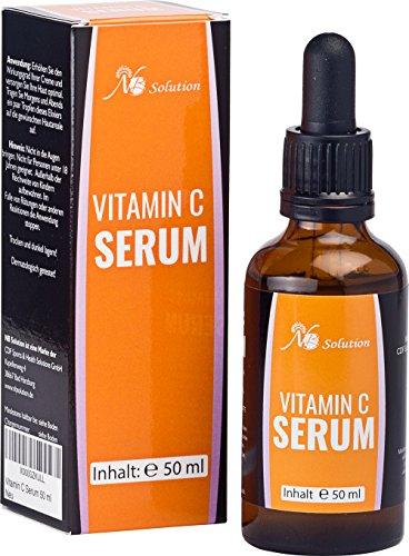 Vitamin C Serum 50 ml Für Ihr Gesicht - Mit Hyaluronsäure - Anti Aging Serum