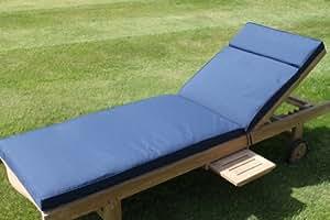 Coussin pour mobilier de jardin coussin pour chaise for Chaise de jardin bleu marine