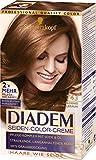 Schwarzkopf Diadem Seiden-Color-Creme, 743 Goldenes Karamellbraun Stufe 3, 3er Pack (3 x 180 ml)