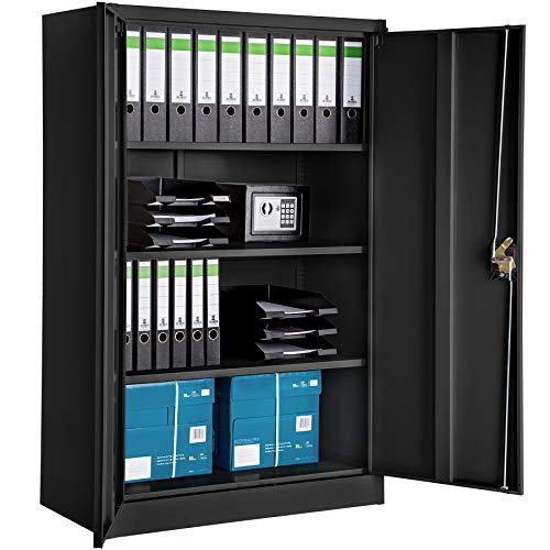 Tectake 800598 armadio di ufficio chiudibile, piani regolabili singolarmente in altezza, facile da montare - modelli differenti (tipo 1 | no. 402937)