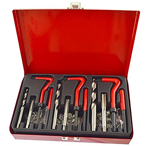 Installation et kit de réparation de filetage helicoil set 88pc tailles métriques M6-M10 UN047