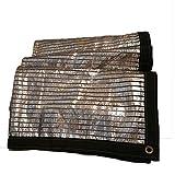 ANHPI Rete di ombreggiatura Copertine Strato a Terra Foglio di Alluminio Isolamento Termico Shelter Tarp Telone Politene Protezione Solare Calmati Roof Balcony Outdoor (Size : 2M*2M)