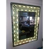 Arvind Sanitary Premium Quality Modern Frameless Fancy Antique Decorative Wall Mirror Designing Border/Bathroom Mirror/wash Basin Mirror/Bedroom Mirror/Home Decor. Decorative Mi - B07FKJLDXN