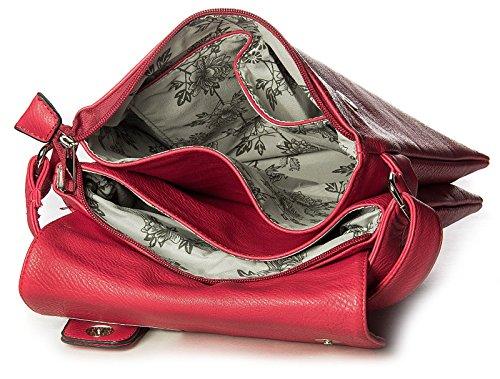Other, Borsa a tracolla donna Multicolore Multicolor medium Red