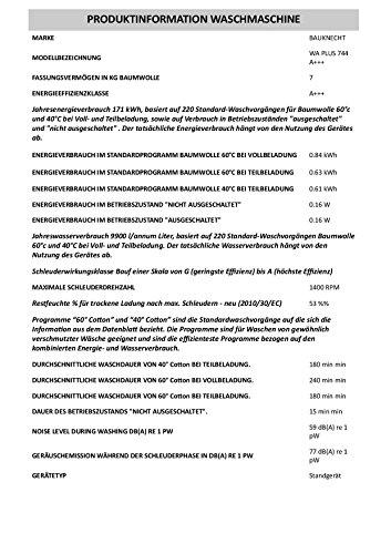 Bauknecht WA PLUS 744 A+++ - 3