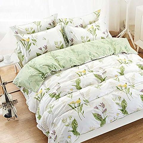 TBQING Cama dormitorio del estudiante. tres piezas algodón ropa de cama edredón niños tres piezas 1.2 metros . 5 . 1.2m (4 feet) bed