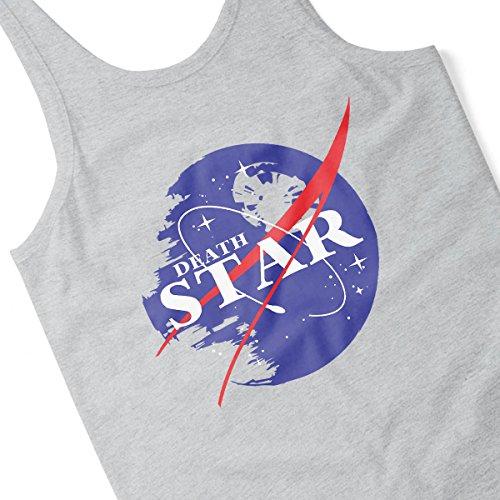 Star Wars Rogue One Death Star Nasa Logo Men's Vest Heather Grey