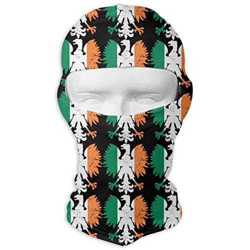 Hoklcvd Vintage Irland irische Flagge polnischen Adler Unisex Gesichtsmaske Staub Sun UV Schutz Balaclava Gesichtsmaske Unisex4 -