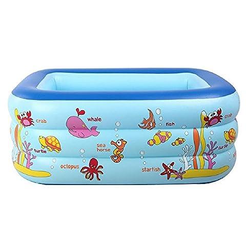 130CM Kind Aufgeblasen Pool Dicker Isolierung Zuhause Baby Spiel im Wasser Meerball-Pool Kleinkinder und Kleinkinder PVC Schwimmbad , blue