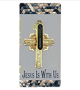 ColourCraft Jesus Cross Design Back Case Cover for NOKIA LUMIA 920