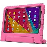 Samsung Galaxy Tab 3 Lite 7.0, E 7.0 Funda de niños, COOPER DYNAMO Funda dura protectora para choques y uso pesado para niños con agarre de mano, estante trasero y protector de pantalla incluido (Rosa)