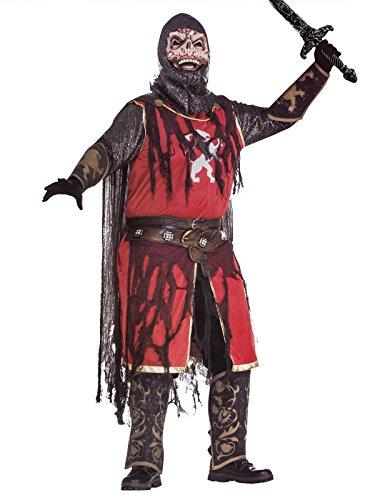 Zombie Kostüm Kreuzritter - KULTFAKTOR GmbH Zombie Kreuzritter Halloween-Kostüm rot-schwarz M / L
