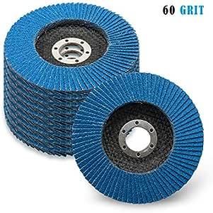 sourcingmap/® 100mm Dia 16mm Bore 60 Grit Flap Sanding Discs Grinding Wheel 10pcs
